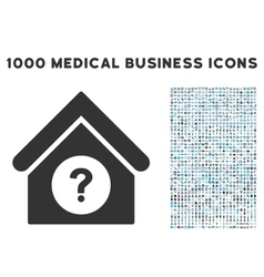 Status building icon with 1000 medical business vector