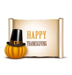 Thanksgiving card on a white background vector image vector image