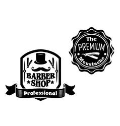 Vintage barber shop designs set vector image vector image