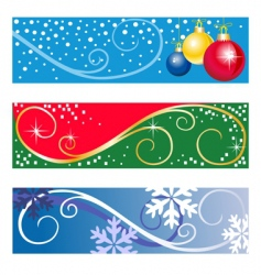 winter banners vector image vector image