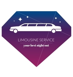 Limousine night service graphic icon sign in vector