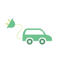 Electric car concept eco icon vector