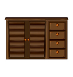 Cupboard with drawer vector