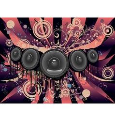 Grunge Loud Speaker4 vector image