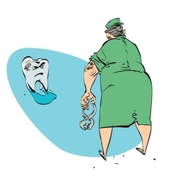 bad tooth and the dentist vector image