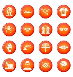 Innovation icons set vector