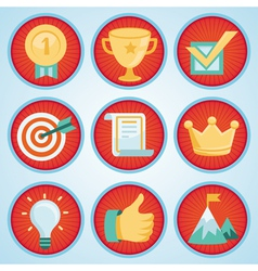 Set with achievement and awards badges vector