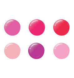 Nail polish drops different trendy colors for vector