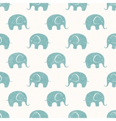 Seamless print with cute little elephants vector
