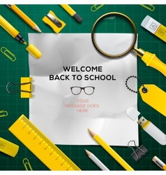 Back to school template with schools supplies vector