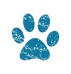 Paw print icon vector