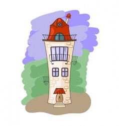 Medieval house vector