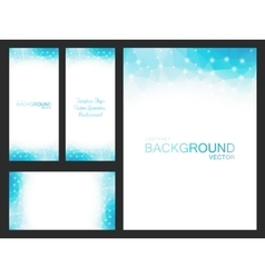 Set of isolated blurred backgrounds vector