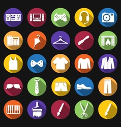 Men clothing and accessories vector