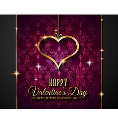 Valentines day background for dinner invitations vector