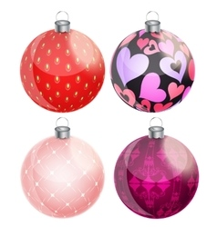New year and christmas balls set vector