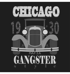 Chicagol t-shirt graphic design gangster style vector
