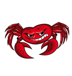 Crab mascot icon vector