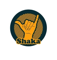 Shaka or hang loose sign gesture vector