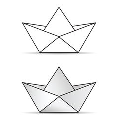 Paper boat set icon vector