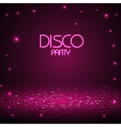 Abstract decorative disco background vector image