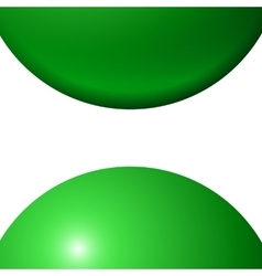 Abstract minimal frame with green balls vector image vector image