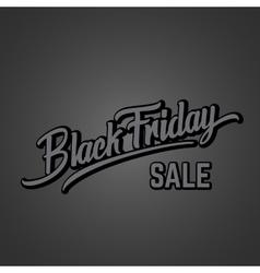 Black Friday Expressive Hand Lettering vector image