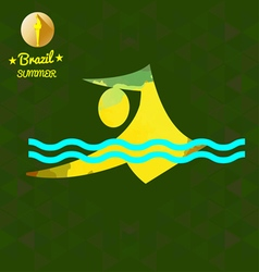 Brazil summer sport card with an yellow abstract s vector image vector image