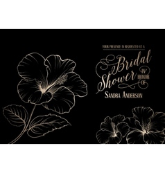 Bridal shower template vector image vector image