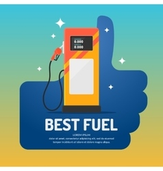 Bright advertising poster on the theme of gas vector image