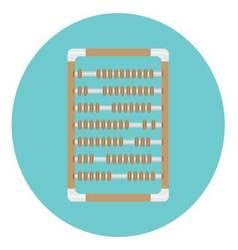 Calculator abacus icon vector