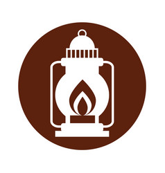 camping lantern isolated icon vector image
