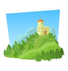 Castle icon cartoon style vector