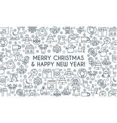 christmas banner thin line vector image