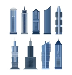 Collection of buildings for city design vector image