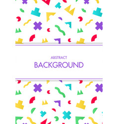 colorful pattern with geometric random shape vector image vector image