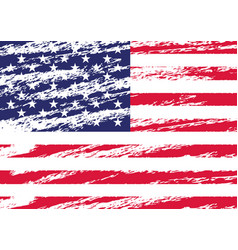 creative isolated usa flag in grunge style vector image