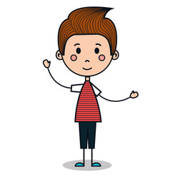 cute little boy drawing vector image vector image