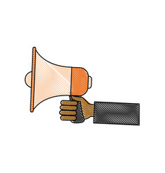 hand holding speaker loud marketing business vector image