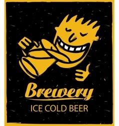 human figures drinking beer vector image vector image