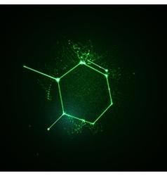Illuminated molecular structure shape vector