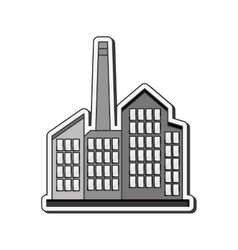 Industrial factory icon vector