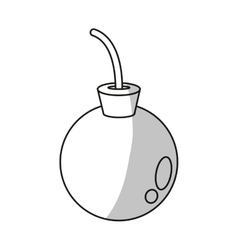Isolated bomb design vector image vector image