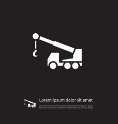 isolated construction car icon machine vector image