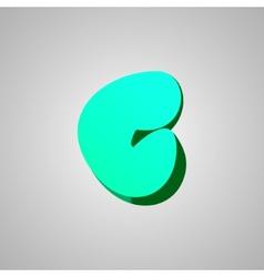 Letter C comic style font EPS10 vector image