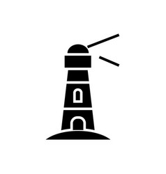 lighthouse - nautical building icon vector image vector image
