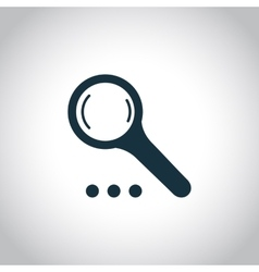 Magnify simple icon vector image