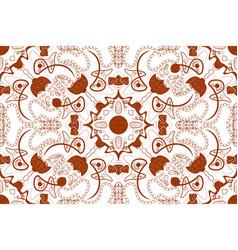 mandala seamless pattern arabic boho style vector image
