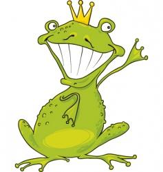 prince frog vector image vector image