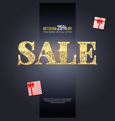 sale ad for luxury exclusive events horizontal vector image vector image